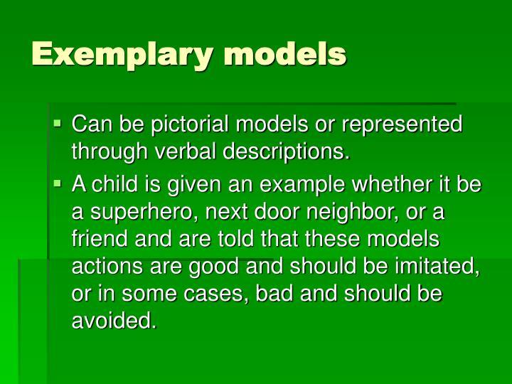 Exemplary models