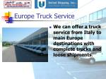 europe truck service