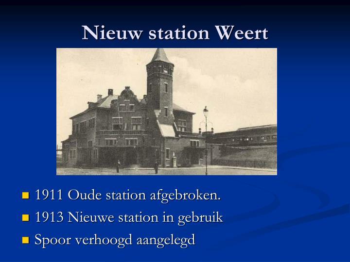 Nieuw station Weert