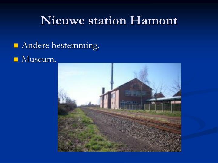 Nieuwe station Hamont