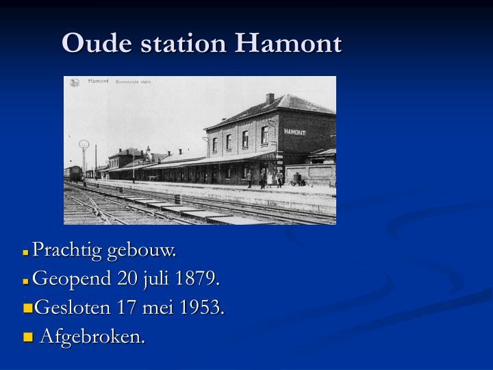 Oude station Hamont