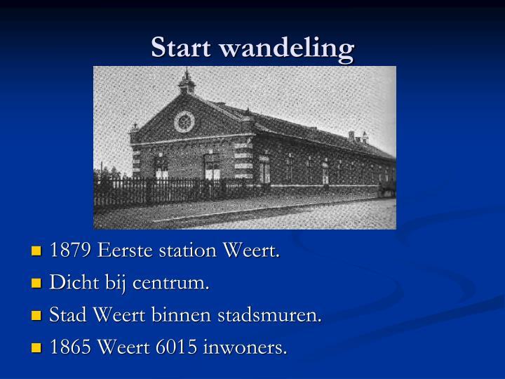 Start wandeling