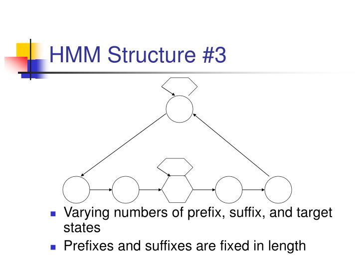 HMM Structure #3