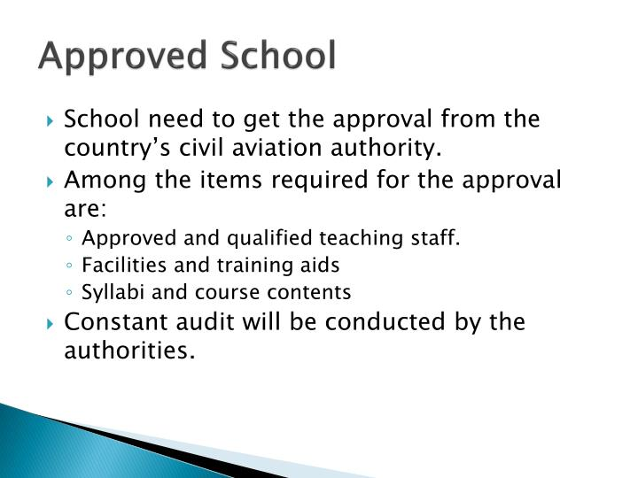 Approved School