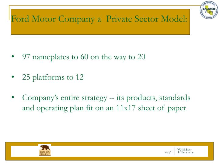 Ford Motor Company a  Private Sector Model: