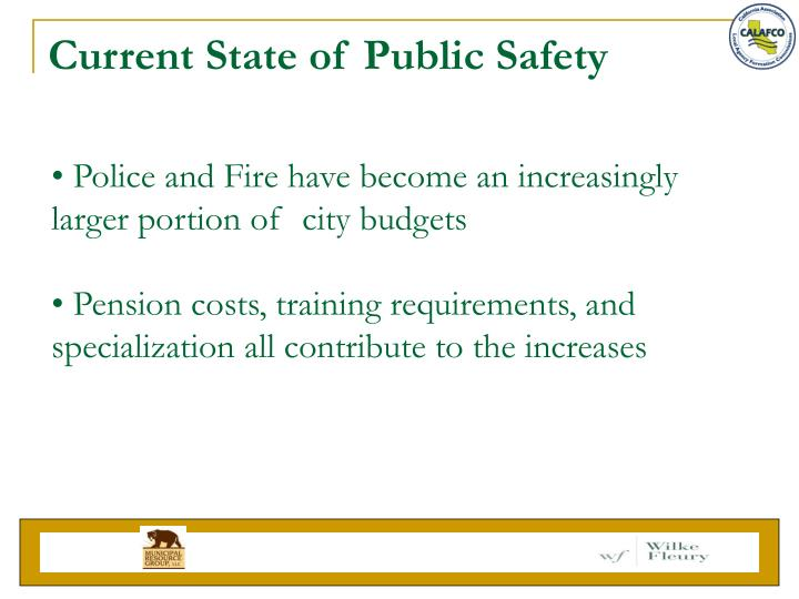 Current State of Public Safety