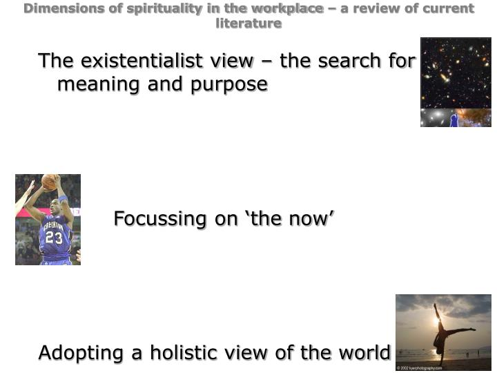 Dimensions of spirituality in the workplace – a review of current literature