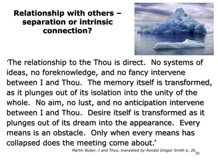 Relationship with others – separation or intrinsic connection?