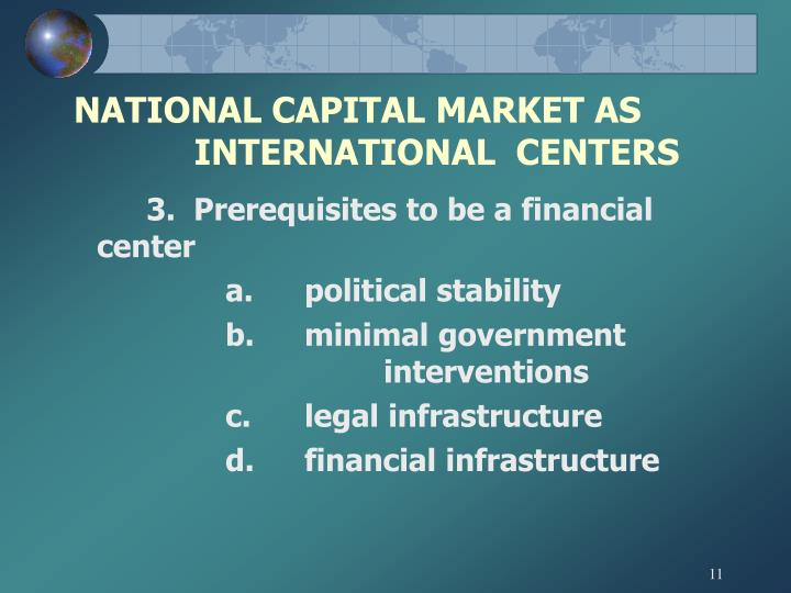 NATIONAL CAPITAL MARKET AS