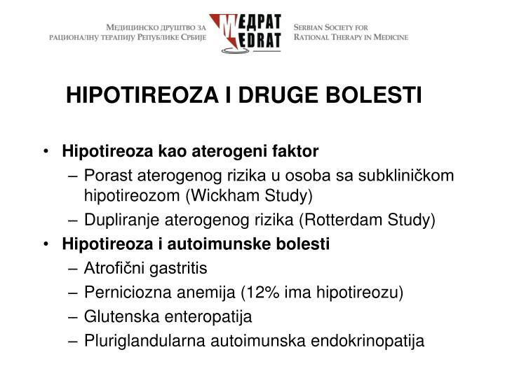 HIPOTIREOZA I DRUGE BOLESTI