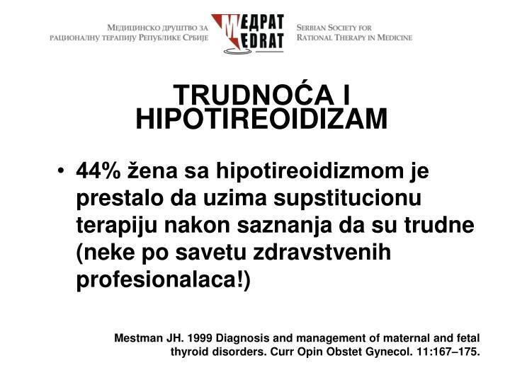 TRUDNOĆA i hipotireoidizam