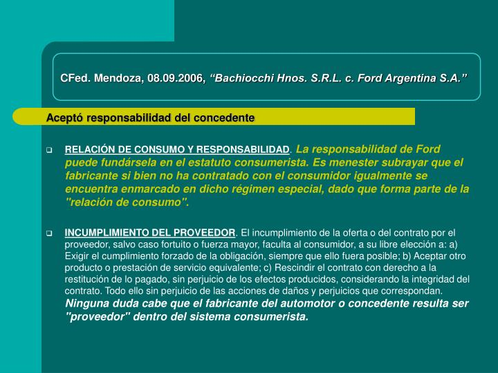 CFed. Mendoza, 08.09.2006,