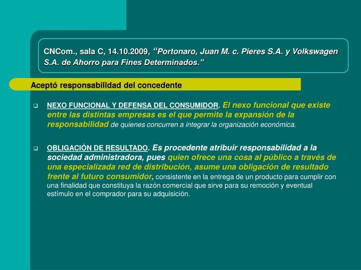 CNCom., sala C, 14.10.2009,