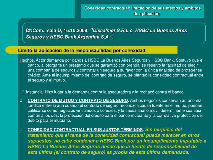 Conexidad contractual: limitación de sus efectos y ámbitos de aplicación