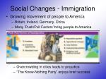 social changes immigration