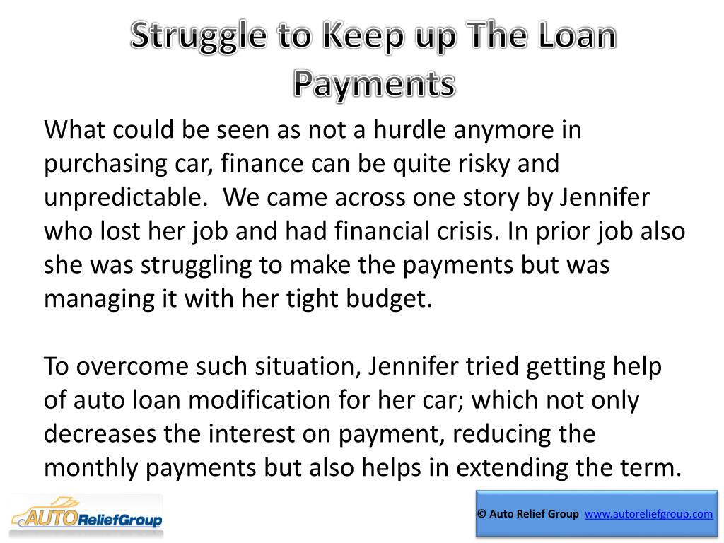 Struggle to Keep up The Loan Payments
