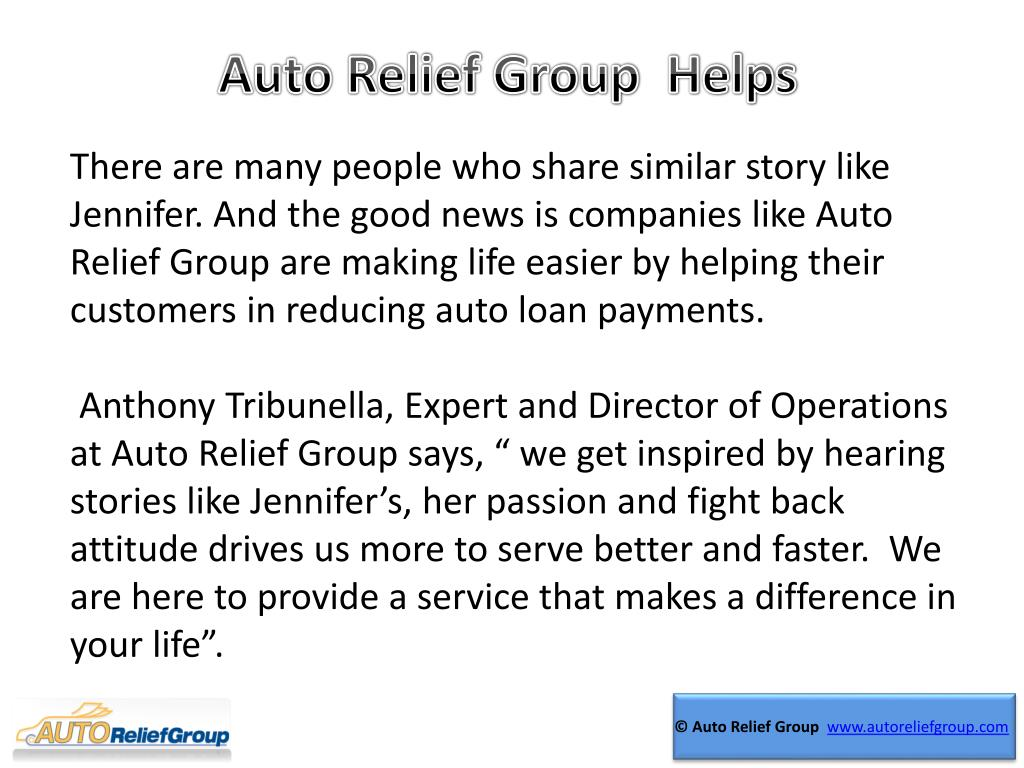 Auto Relief Group  Helps