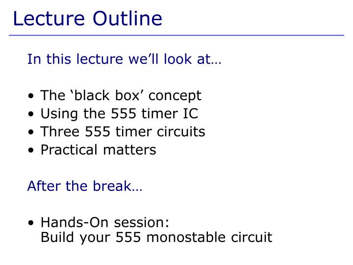 In this lecture we'll look at…