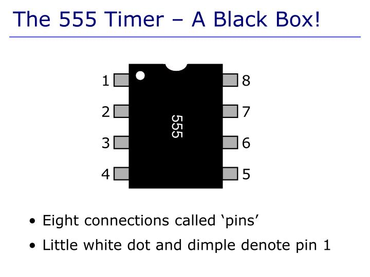 Eight connections called 'pins'