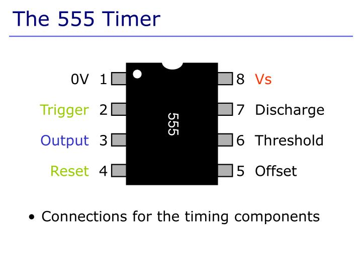 Connections for the timing components