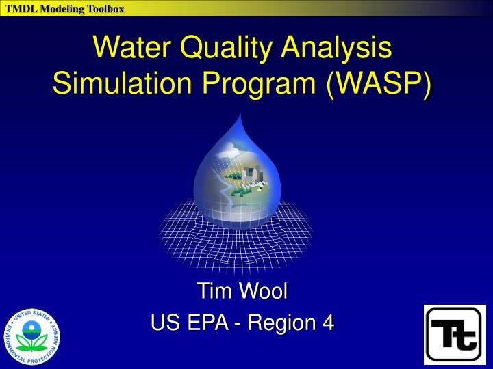 Water quality analysis simulation program wasp