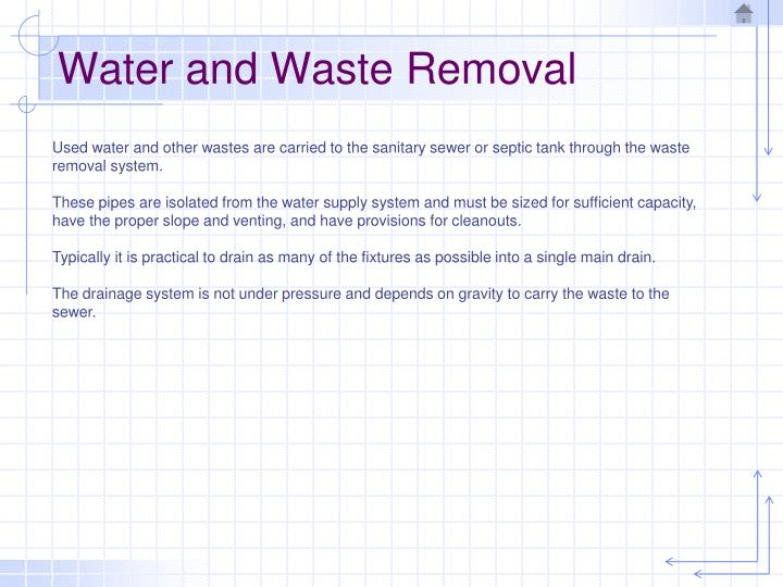 Water and Waste Removal