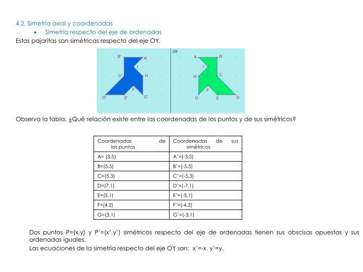 4.2. Simetría axial y coordenadas