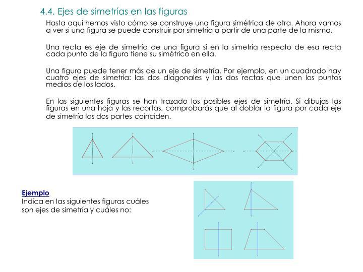 4.4. Ejes de simetrías en las figuras