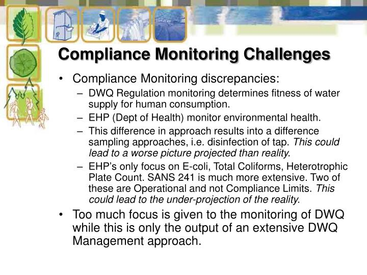 Compliance Monitoring Challenges
