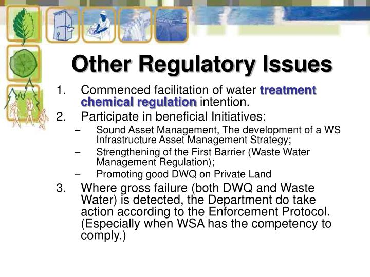Other Regulatory Issues