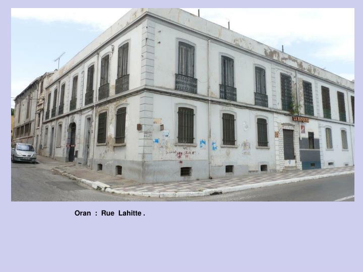 Oran  :  Rue  Lahitte .