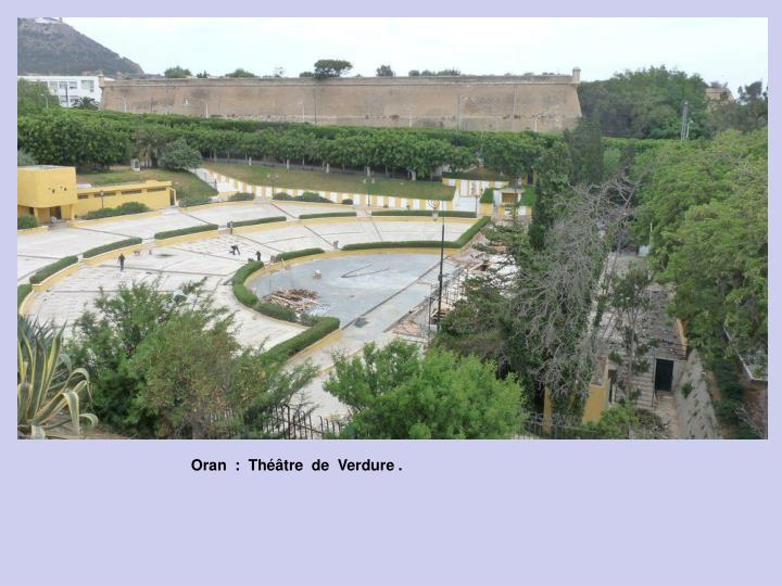 Oran  :  Théâtre  de  Verdure .