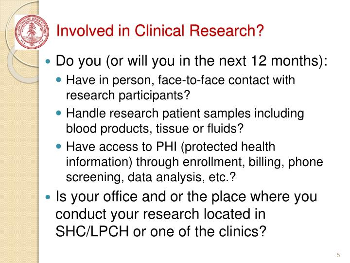 Involved in Clinical Research?
