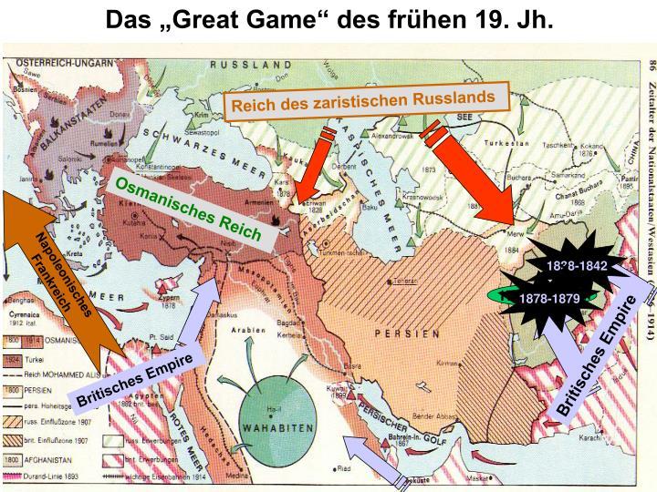 """Das """"Great Game"""" des frühen 19. Jh."""