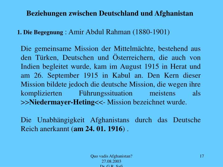 Beziehungen zwischen Deutschland und Afghanistan