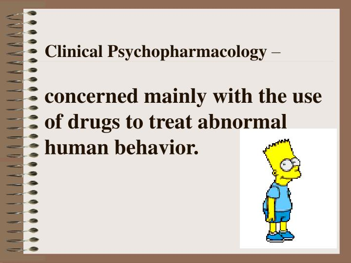basics of psychopharmacology After an introduction and overview, chapters cover: basics of  psychopharmacology attention-deficit hyperactivity disorder mood disorders  sleep.