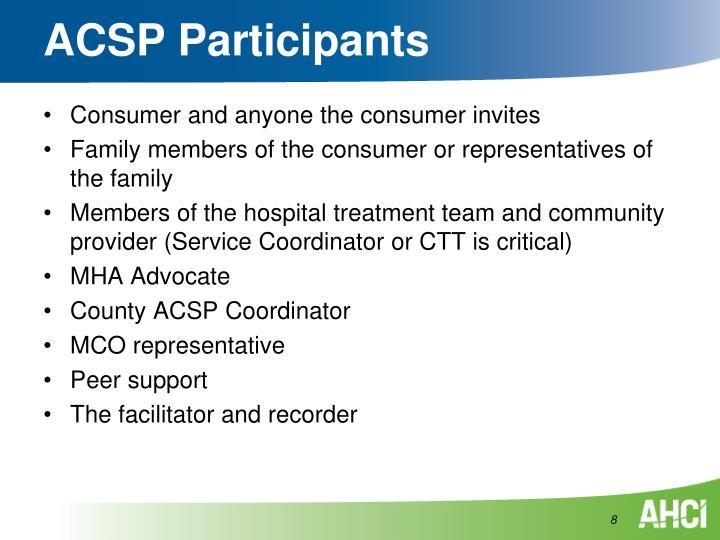 ACSP Participants