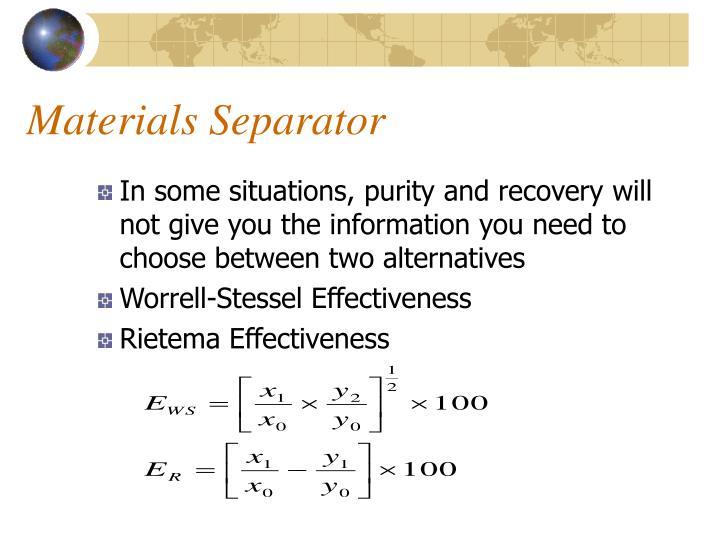 Materials Separator