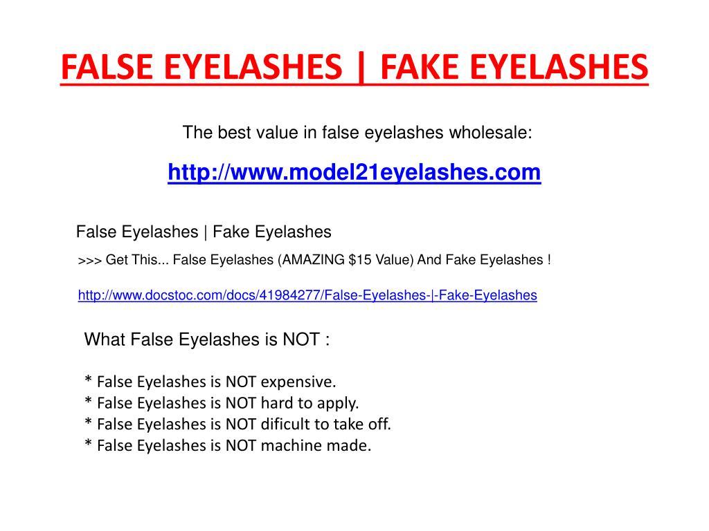 FALSE EYELASHES | FAKE EYELASHES