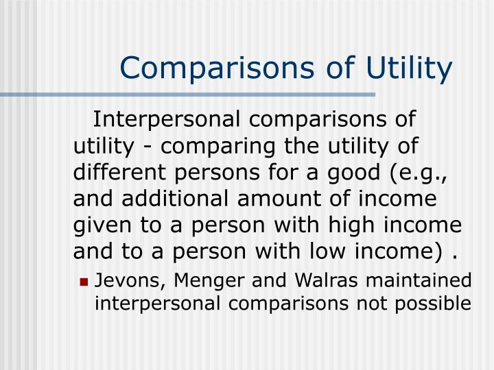 Comparisons of Utility