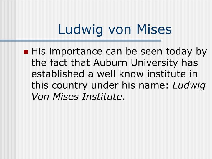 Ludwig von Mises