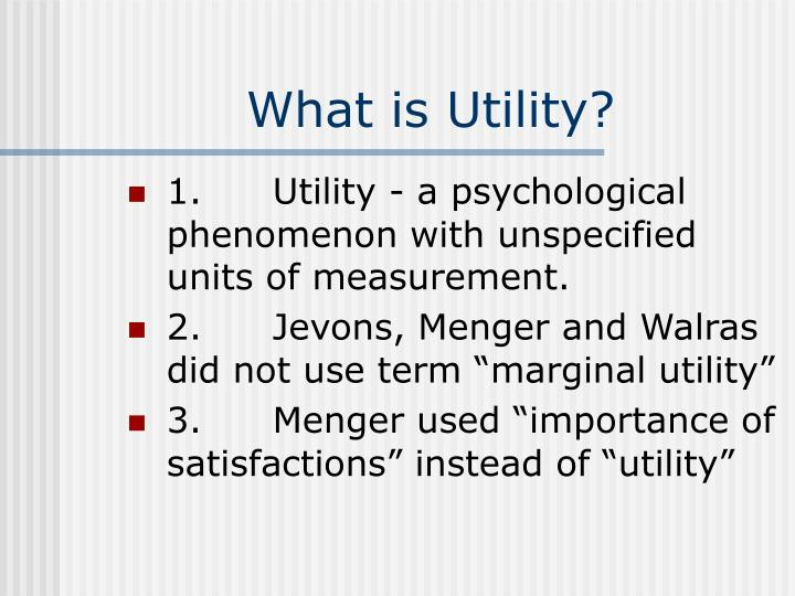What is Utility?