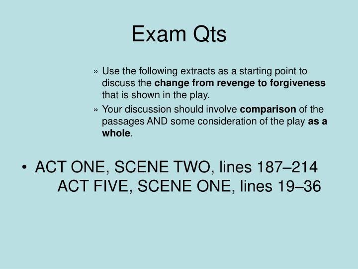 Exam Qts