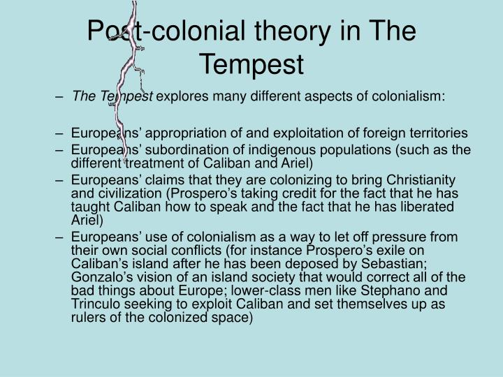 Post-colonial theory in The Tempest