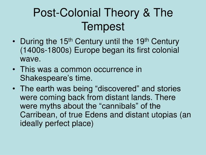 Post colonial theory the tempest
