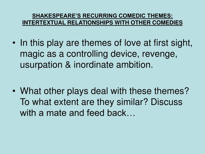 SHAKESPEARE'S RECURRING COMEDIC THEMES: