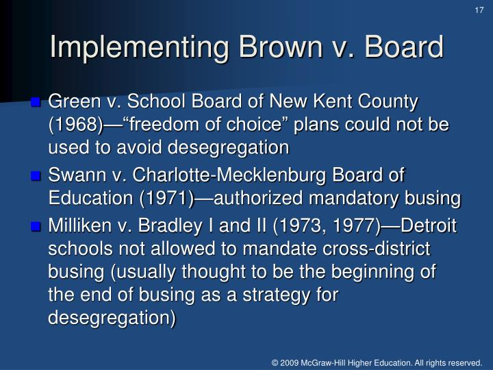 Implementing Brown v. Board