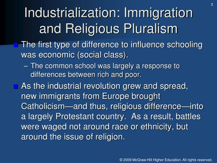 Industrialization: Immigration and Religious Pluralism