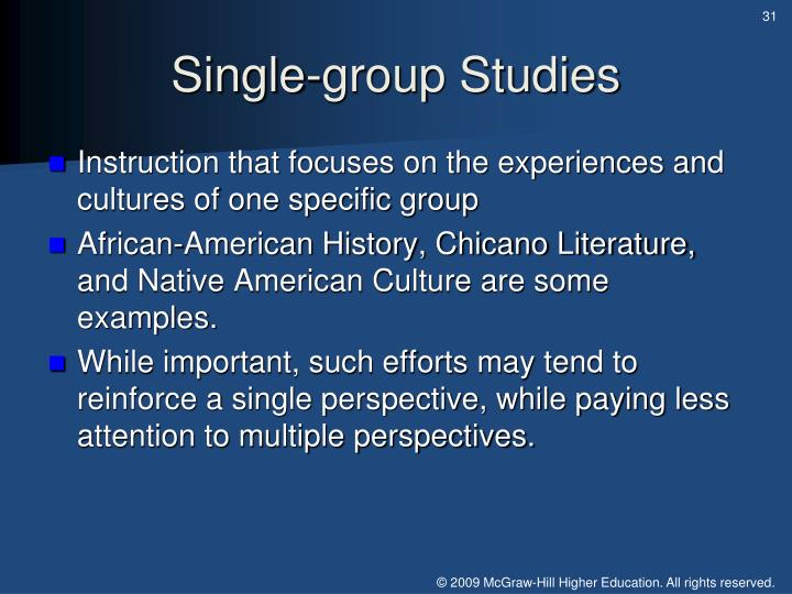 Single-group Studies