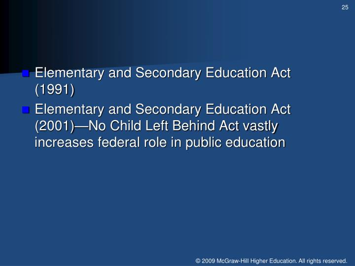 Elementary and Secondary Education Act (1991)